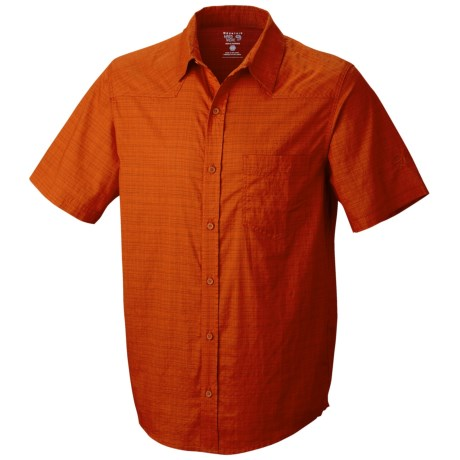 Mountain Hardwear McLane Shirt - Organic Cotton, Short Sleeve (For Men) in Russet Orange