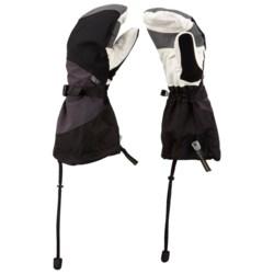 Mountain Hardwear Medusa Mittens - Waterproof, Insulated (For Men) in Black/Shark/White