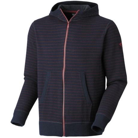 Mountain Hardwear Melbu Stripe Hoodie - Zip (For Men) in Abyss/Red