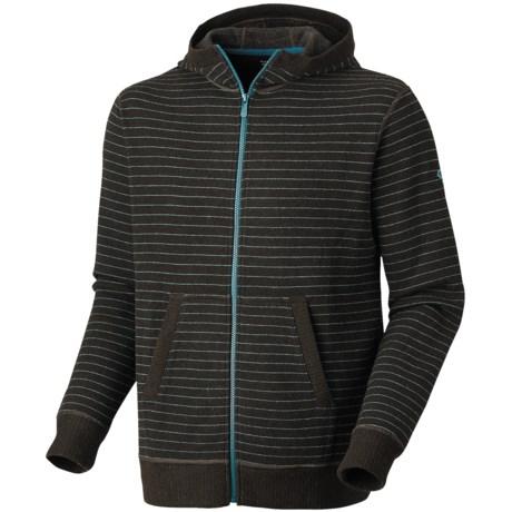 Mountain Hardwear Melbu Stripe Hoodie - Zip (For Men) in Cordovan/Teal