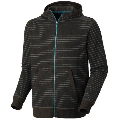 Mountain Hardwear Melbu Stripe Hoodie - Zip (For Men) in Cordovan