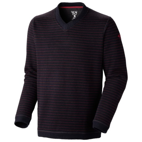 Mountain Hardwear Melbu Stripe Sweater - V-Neck (For Men) in Abyss