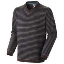 Mountain Hardwear Melbu Stripe Sweater - V-Neck (For Men) in Cordovan - Closeouts