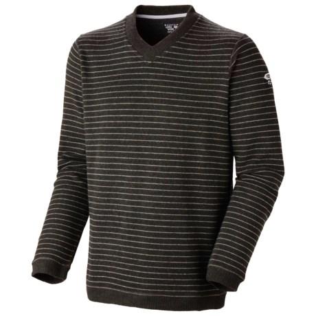 Mountain Hardwear Melbu Stripe Sweater - V-Neck (For Men) in Duffel