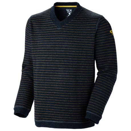 Mountain Hardwear Melbu Stripe Sweater - V-Neck (For Men) in Shark