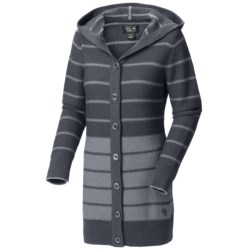 Mountain Hardwear Merino Knit Cardigan Sweater - Hooded (For Women) in Graphite