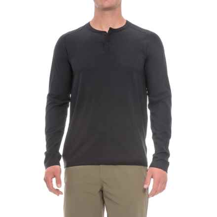 Mountain Hardwear MHW AC Henley Shirt - Long Sleeve (For Men) in Black - Closeouts