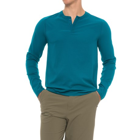 Mountain Hardwear MHW AC Henley Shirt - Long Sleeve (For Men) in Phoenix Blue