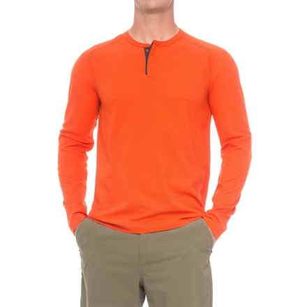 Mountain Hardwear MHW AC Henley Shirt - Long Sleeve (For Men) in State Orange - Closeouts