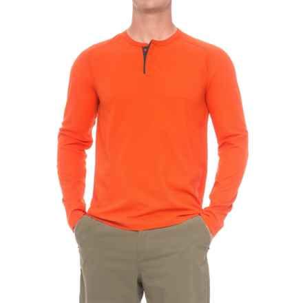 Mountain Hardwear MHW AC Henley Shirt - Long Sleeve (For Men) in State Orange - Closeouts