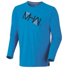 Mountain Hardwear MHW Angle Tech Shirt - UPF 30, Long Sleeve (For Men) in Static Blue - Closeouts