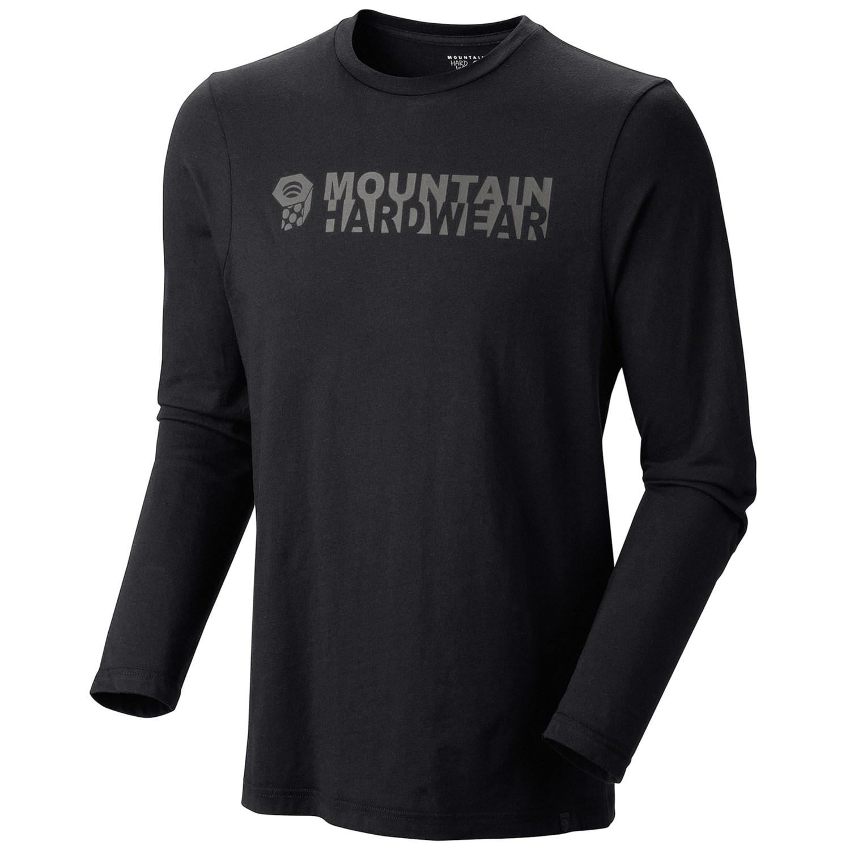 Mountain hardwear mhw logo ii t shirt long sleeve for men for Mountain long sleeve t shirts