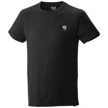 Mountain Hardwear MHW Logo T-Shirt - Cotton, Short Sleeve (For Men) in Black - Closeouts