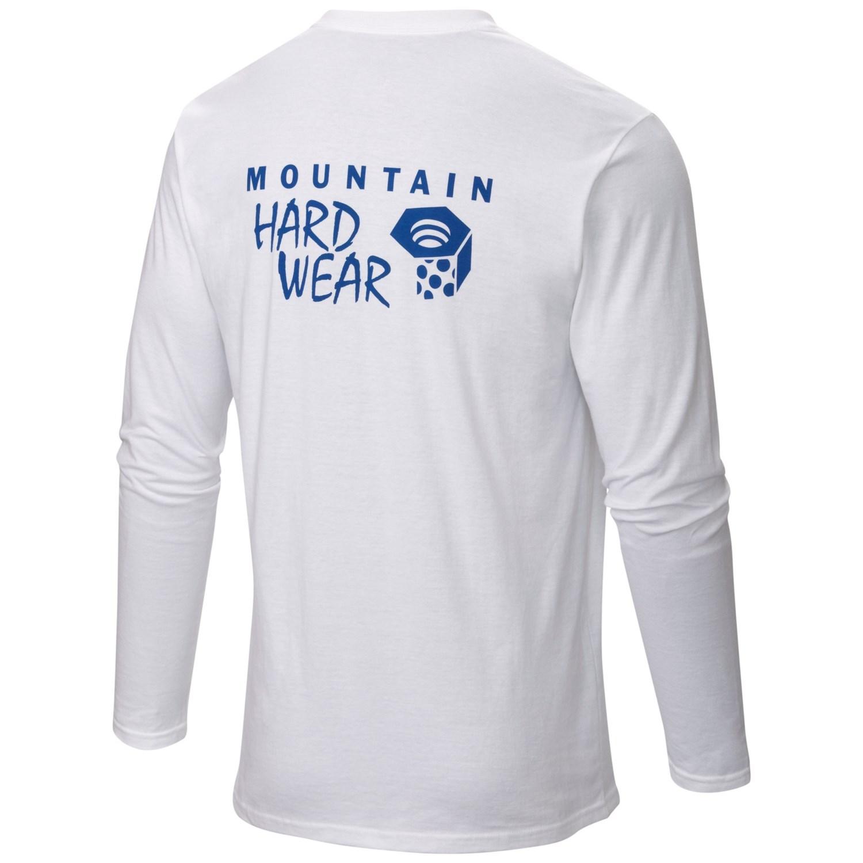 Mountain hardwear mhw logo t shirt for men 5074c for Mountain long sleeve t shirts