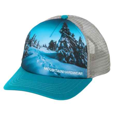 Mountain Hardwear MHW Trucker Hat (For Men and Women) in Dark Compass/Snow Trees - Closeouts