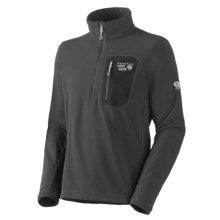 Mountain Hardwear Micro Grid Pullover Shirt - Zip Neck, Long Sleeve (For Men) in Black - Closeouts
