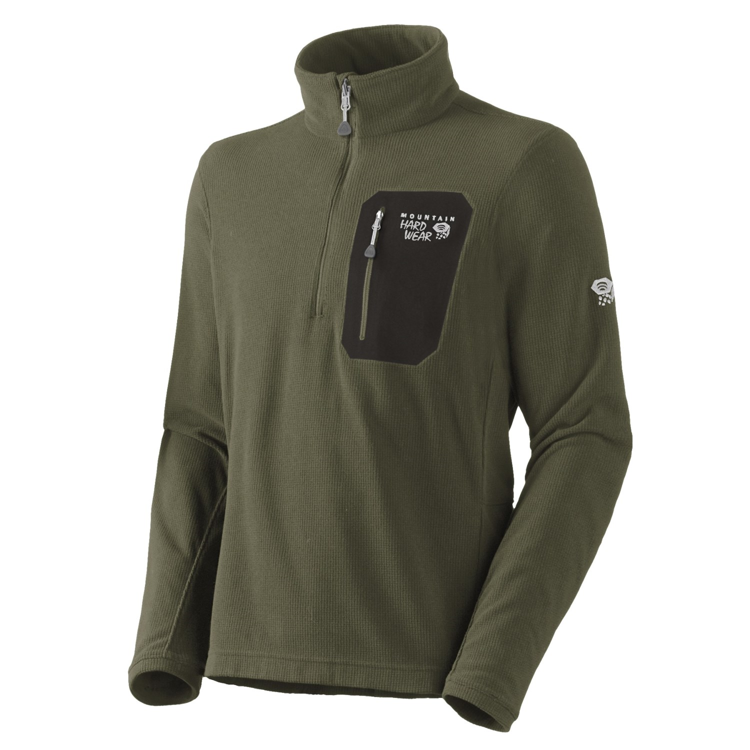 Mountain hardwear micro grid pullover shirt zip neck for Mens long sleeve pullover shirts