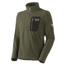 Mountain Hardwear Micro Grid Pullover Shirt - Zip Neck, Long Sleeve (For Men) in Caper - Closeouts