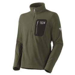 Mountain Hardwear Micro Grid Pullover Shirt - Zip Neck, Long Sleeve (For Men) in Caper