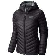 Mountain Hardwear Micro Ratio Q.Shield® Down Hooded Jacket - 650 Fill Power (For Women) in Black - Closeouts