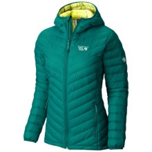 Mountain Hardwear Micro Ratio Q.Shield® Down Hooded Jacket - 650 Fill Power (For Women) in Teal Green/Bolt - Closeouts
