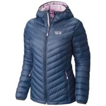 Mountain Hardwear Micro Ratio Q.Shield® Down Hooded Jacket - 650 Fill Power (For Women) in Zinc/Phantom Purple - Closeouts