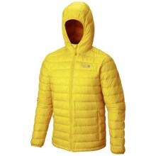 Mountain Hardwear Micro Ratio Q.Shield® Hooded Down Jacket - 650 Fill Power (For Men) in Electron Yellow - Closeouts