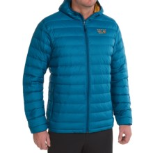 Mountain Hardwear Micro Ratio Q.Shield® Hooded Down Jacket - 650 Fill Power (For Men) in Phoenix Blue/Underbrush - Closeouts