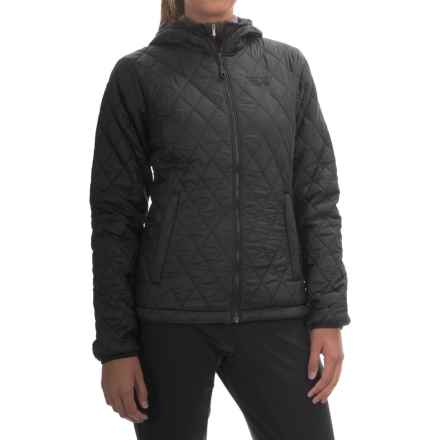 Mountain Hardwear Micro Thermostatic Hooded Jacket - Insulated (For Women) in Black/Graphite - Closeouts