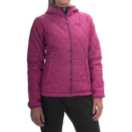 Mountain Hardwear Micro Thermostatic Hooded Jacket - Insulated (For Women) in Deep Blush - Closeouts
