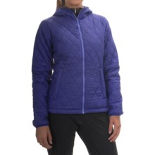 Mountain Hardwear Micro Thermostatic Hooded Jacket - Insulated (For Women) in Dynasty/Neon Light - Closeouts