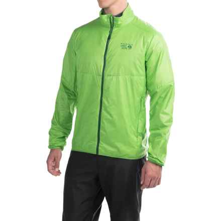 Mountain Hardwear Micro Thermostatic Hybrid Jacket - Insulated (For Men) in Cyber Green - Closeouts