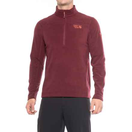 Mountain Hardwear MicroChill 2.0 Fleece Shirt - UPF 50, Zip Neck, Long Sleeve (For Men) in Cote Du Rhone - Closeouts