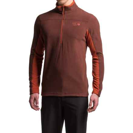 Mountain Hardwear MicroChill 2.0 Fleece Shirt - UPF 50, Zip Neck, Long Sleeve (For Men) in Redwood - Closeouts
