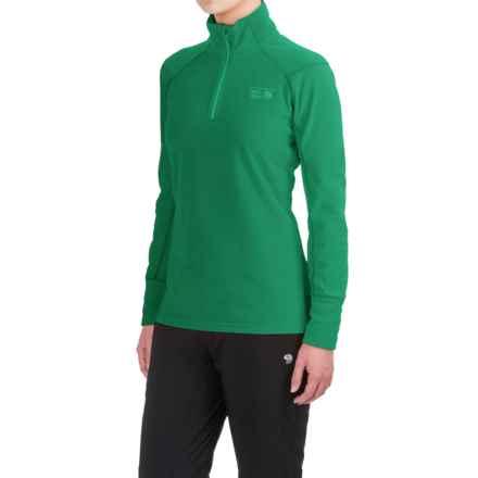 Mountain Hardwear MicroChill 2.0 Fleece Shirt - UPF 50, Zip Neck, Long Sleeve (For Women) in Green Mile - Closeouts