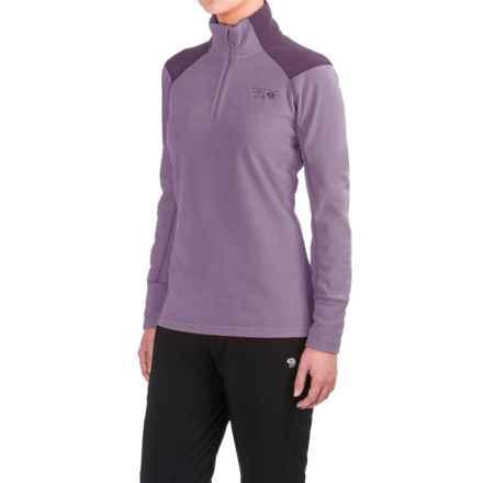 Mountain Hardwear MicroChill 2.0 Fleece Shirt - UPF 50, Zip Neck, Long Sleeve (For Women) in Minky - Closeouts