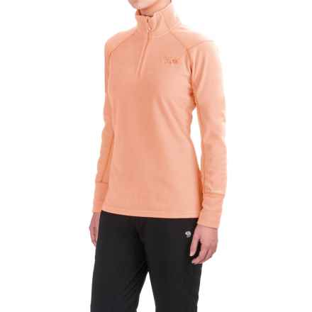 Mountain Hardwear MicroChill 2.0 Fleece Shirt - UPF 50, Zip Neck, Long Sleeve (For Women) in Peachy Keen - Closeouts