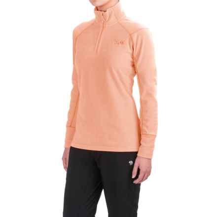 Mountain Hardwear MicroChill 2.0 Fleece Shirt - UPF 50, Zip Neck, Long Sleeve (For Women) in Peachy Keen - Closeouts