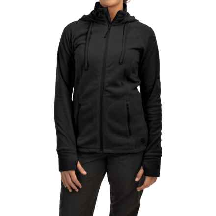 Mountain Hardwear Microchill Fleece Hoodie - Full Zip (For Women) in Black/Black - Closeouts