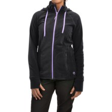 Mountain Hardwear Microchill Fleece Hoodie - Full Zip (For Women) in Black - Closeouts