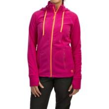 Mountain Hardwear Microchill Fleece Hoodie - Full Zip (For Women) in Haute Pink - Closeouts