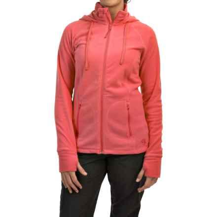 Mountain Hardwear Microchill Fleece Hoodie - Full Zip (For Women) in Paradise Pink - Closeouts
