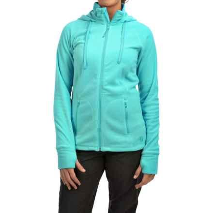 Mountain Hardwear Microchill Fleece Hoodie - Full Zip (For Women) in Spruce Blue - Closeouts