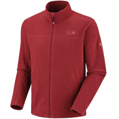 Mountain Hardwear Microchill Fleece Jacket (For Men) in Barn Red