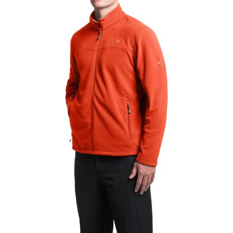 Mountain Hardwear Microchill Fleece Jacket (For Men) in Flame