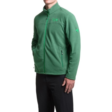 Mountain Hardwear Microchill Fleece Jacket (For Men) in Forest
