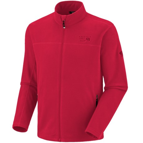 Mountain Hardwear Microchill Fleece Jacket (For Men) in Mountain Red