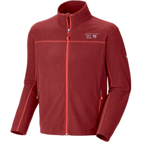 Mountain Hardwear Microchill Fleece Jacket (For Men) in Red Velvet