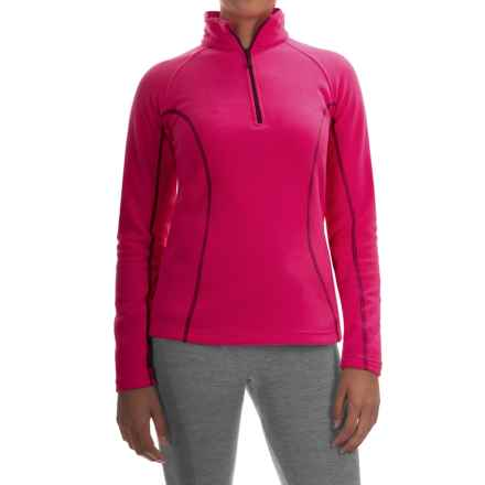 Mountain Hardwear Microchill Fleece Jacket - Zip Neck, Long Sleeve (For Women) in Bright Rose - Closeouts