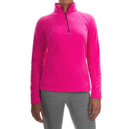 Mountain Hardwear Microchill Fleece Jacket - Zip Neck, Long Sleeve (For Women) in Pink Burst - Closeouts